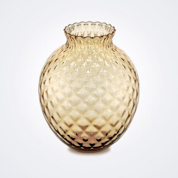 Infiore clear honey tall vase product picture.