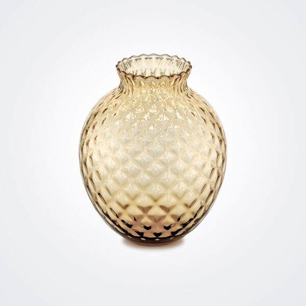 Infiore clear honey vase product picture.