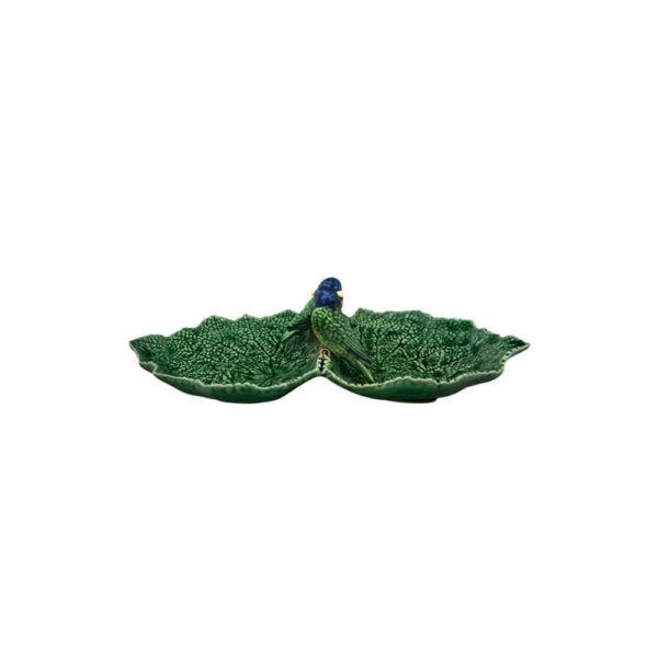 Leaf birds snack plate