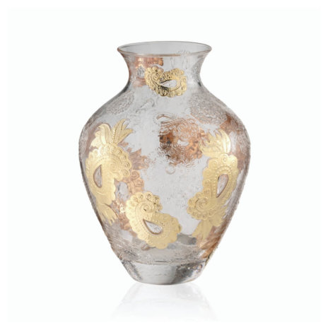 PASHMINA CLEAR AND GOLD PAISLEY VASE