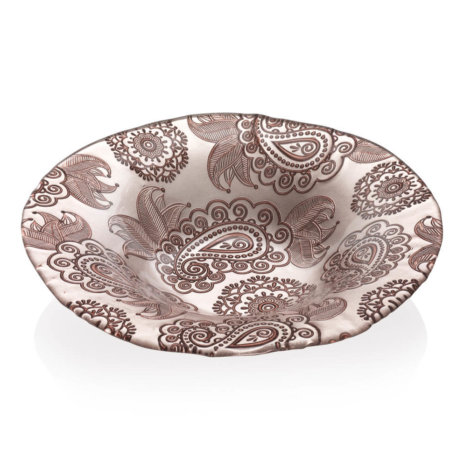 PASHMINA TURTLEDOVE PAISLEY BOWL (Large)