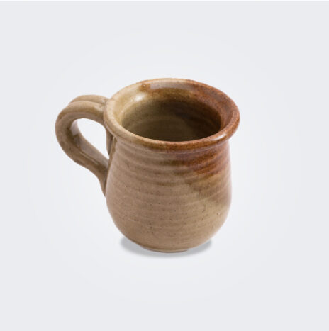 Brown Stoneware Coffee Cup Set