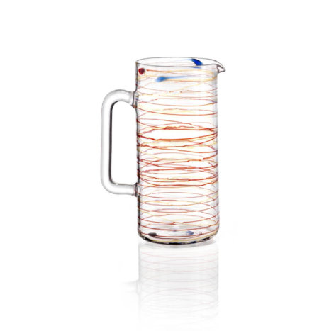 ARIANNA SPIRAL GLASS JUG