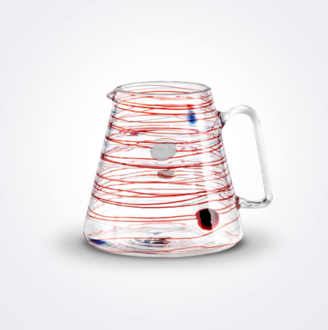 Arianna Spiral Glass Pitcher