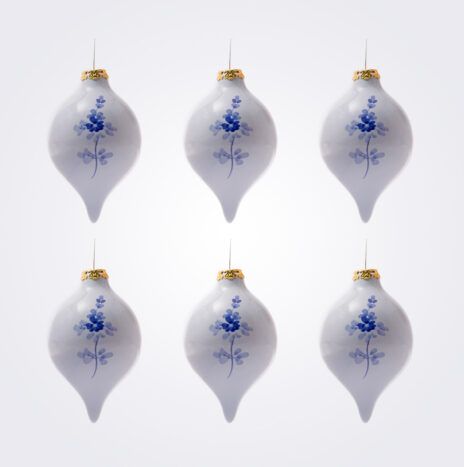 Blue Droplet Christmas Bauble Set