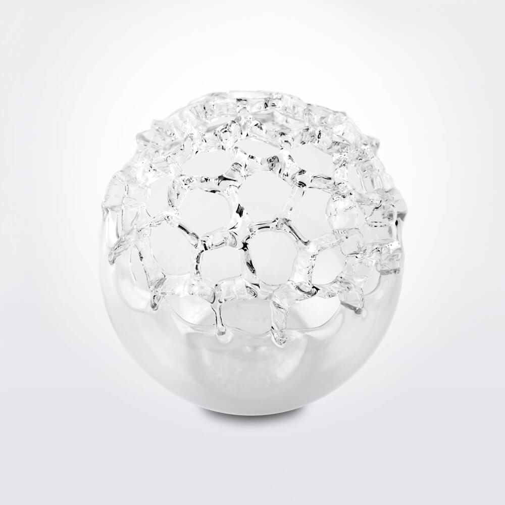 Bowling-glass-vase-grey-background