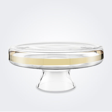 Clear and Gold Cake Stand
