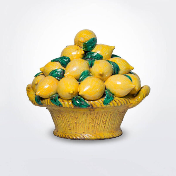 Fruit basket with lemons.