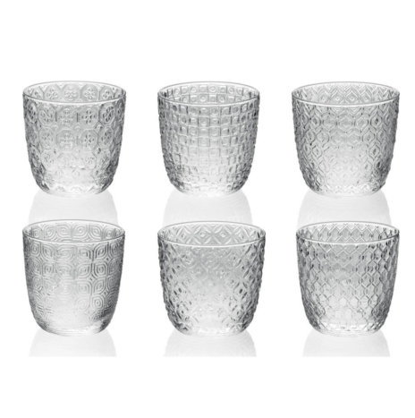 SIXTIES CLEAR TUMBLER SET