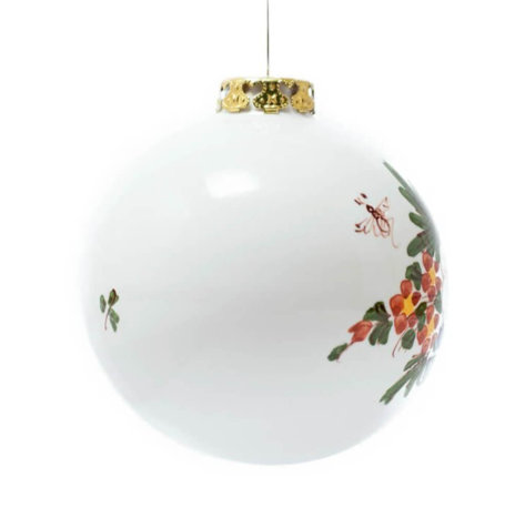 WHITE BALL CHRISTMAS BAUBLES SET