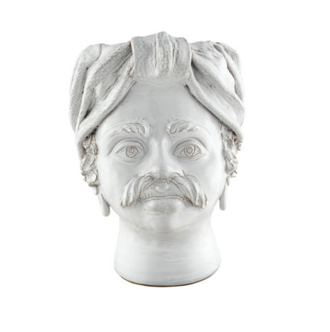 WHITE MAN HEAD VASE