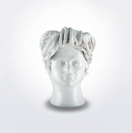 WHITE WOMAN HEAD VASE