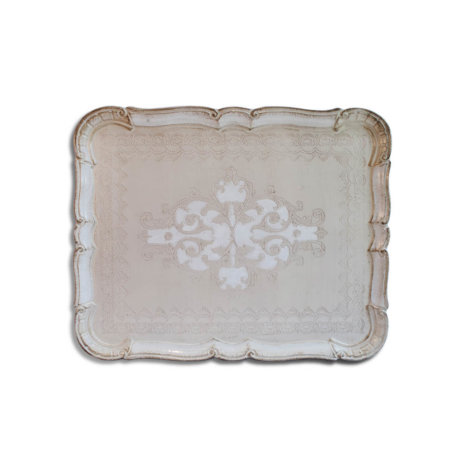 WOODEN CREAM HUES TRAY
