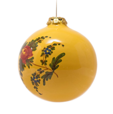 YELLOW BALL CHRISTMAS BAUBLES SET
