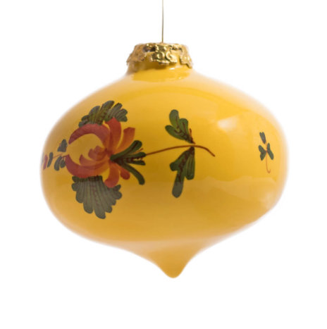 YELLOW ONION CHRISTMAS BAUBLES SET