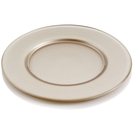 ARIA METALLIC TURTLEDOVE CHARGER PLATE