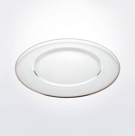 Aria Platinum Rim Charger Plate Set