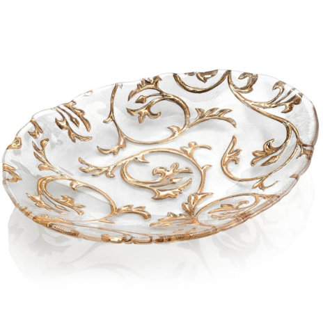 BISANZIO CLEAR & GOLD CENTERPIECE (Large)
