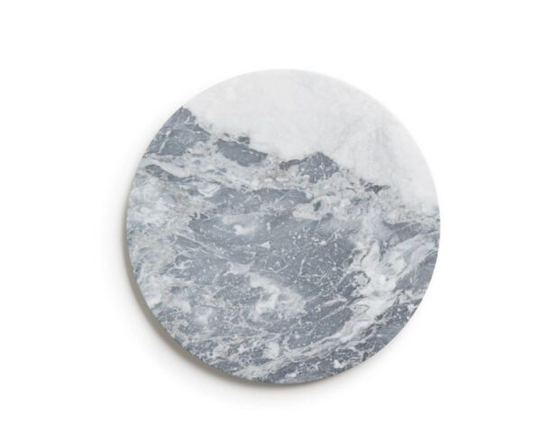Bardigliog gray marble tray product photo.