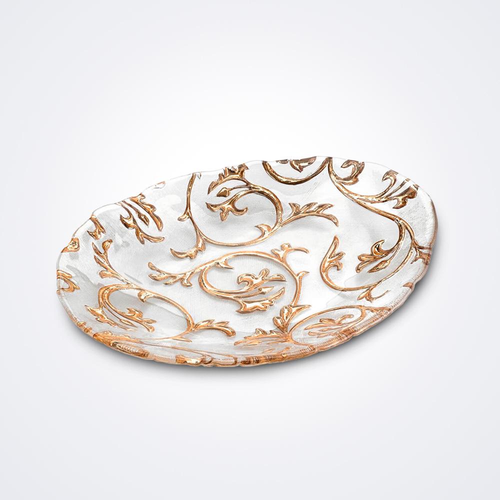 Bisanzio-clear-and-gold-centerpiece-medium
