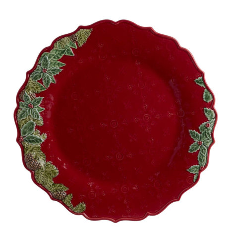 Christmas Red Charger Plate Set
