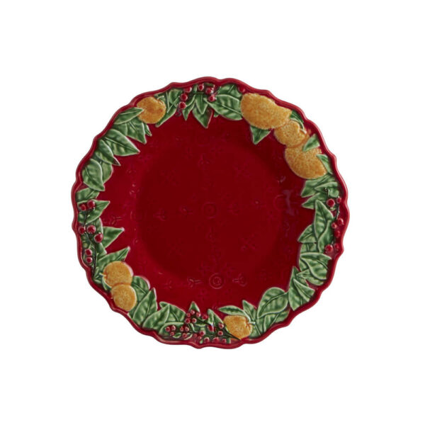 CHRISTMAS RED DESSERT PLATE SET