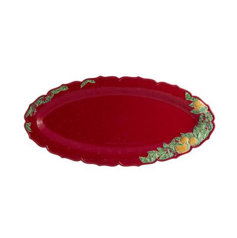 CHRISTMAS RED NARROW PLATTER