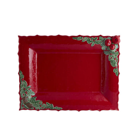CHRISTMAS RED TRAY