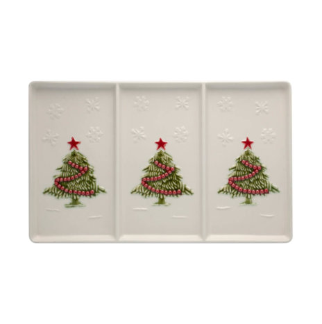 CHRISTMAS TREE APPETIZERS TRAY SET