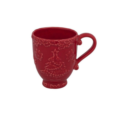 CHRISTMAS TREE RED MUG SET