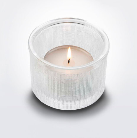 CLEAR TEA LIGHT HOLDER
