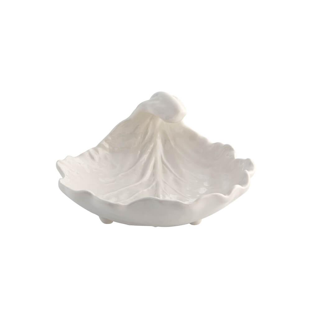Cream-curved-leaf-bowl-set
