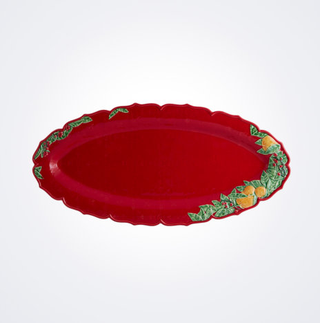 Christmas Red Narrow Platter