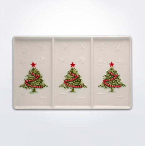 Christmas Tree Appetizer Tray Set