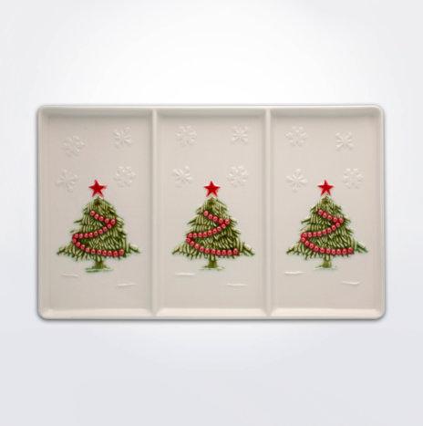 Christmas Tree Appetizer Tray Set