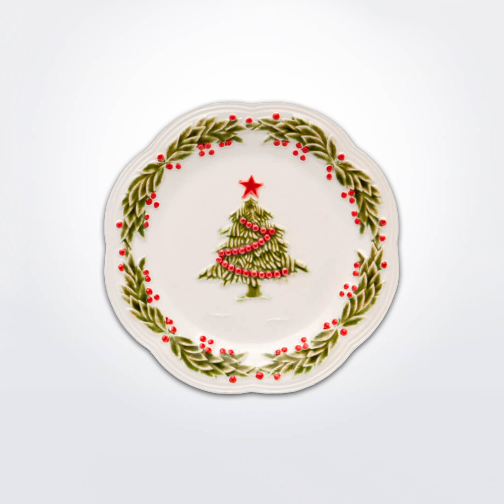 Christmas-tree-fruit-plate-set