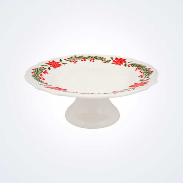 Christmas white cake stand product picture.