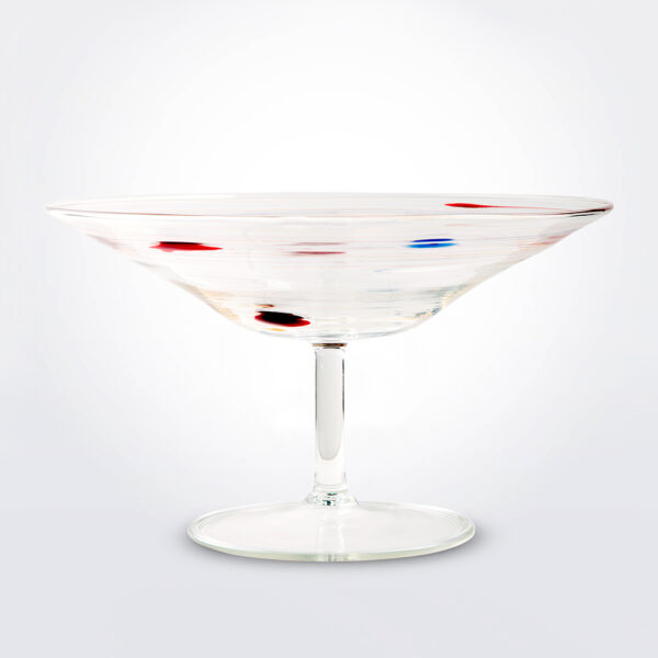 Disco glass centerpiece product picture.