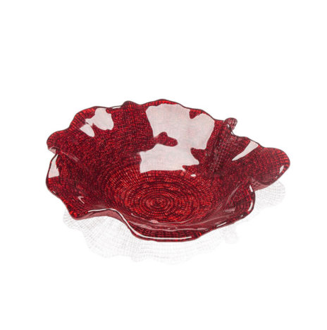 FOLIES RED WAVY PLATE (Medium)