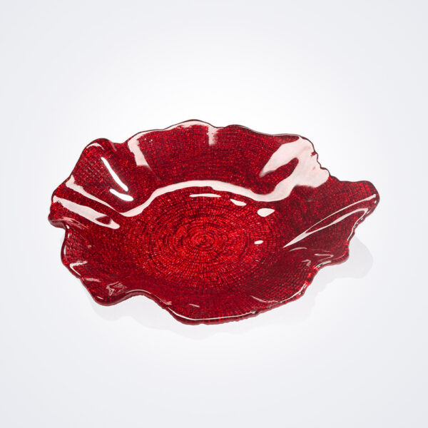 Folies wavy red plate medium product picture.
