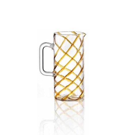 Glass Amber Spirale Carafe