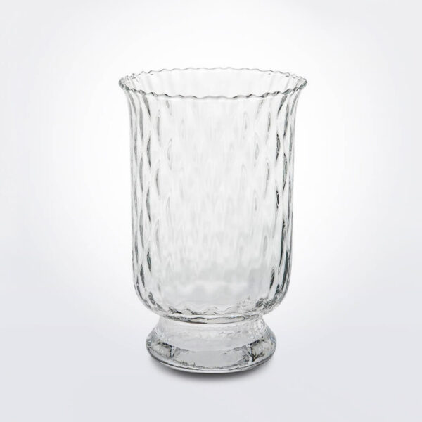 Hurricane glass candle holder.