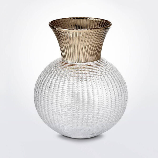 Ophelia clear & champagne glass vase medium.