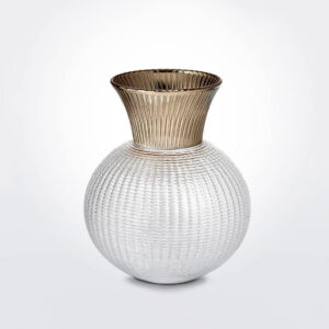 Small Ophelia Clear & Champagne Glass Vase product image.