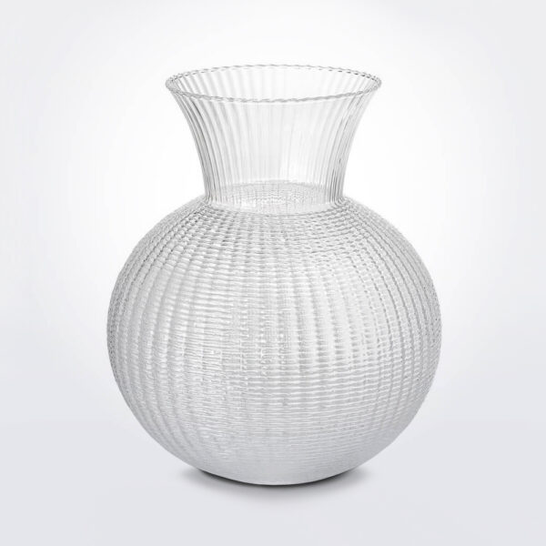 Ophelia clear glass vase medium product photo.