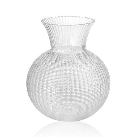 OPHELIA CLEAR GLASS VASE (Medium)
