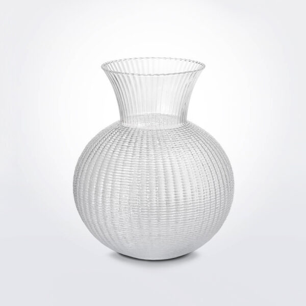 Small Ophelia clear glass vase product photo.