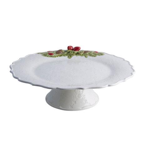 PINE CONE CHRISTMAS CAKE STAND