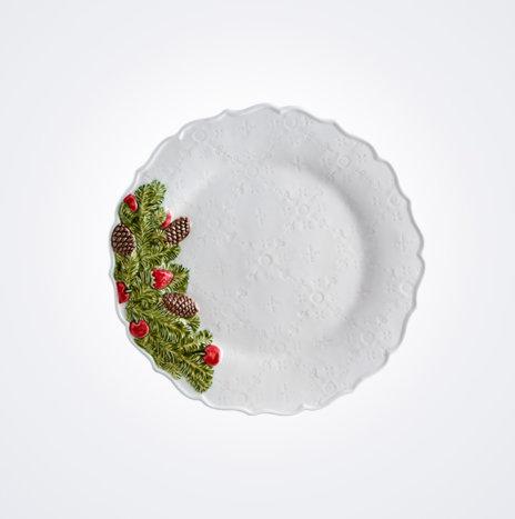 Pine Cone Christmas Plate Set