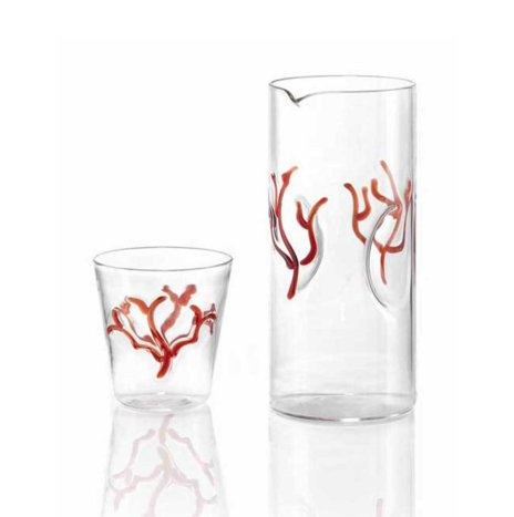 RED CORAL PITCHER & TUMBLER SET